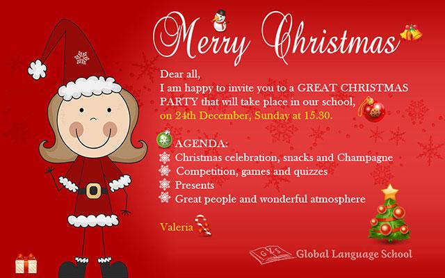 Новый год в школе английского языка